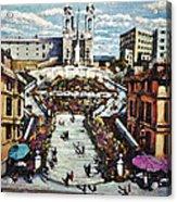The Spanish Steps Acrylic Print