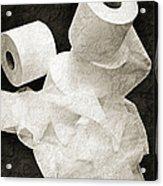 The Spare Rolls 1 - Toilet Paper - Bathroom Design - Restroom - Powder Room Acrylic Print
