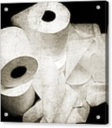 The Spare Rolls 2 - Toilet Paper - Bathroom Design - Restroom - Powder Room Acrylic Print by Andee Design