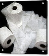 The Spare Rolls 3 - Toilet Paper - Bathroom Design - Restroom - Powder Room Acrylic Print