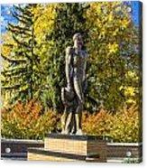 The Spartan Statue In Autumn Acrylic Print