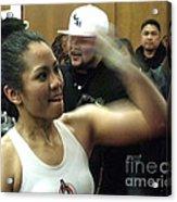 The Speed Of Woman's Boxing Champion Ana Julaton Acrylic Print