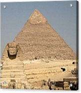 The Sphinx Guarding The Pyramid Acrylic Print