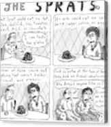 The Sprats  -  Four Panel Comic About The Sprats' Acrylic Print