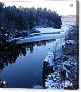 The St. Croix River In December Acrylic Print