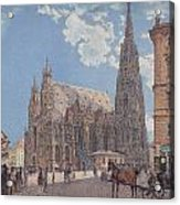 The St Stephen's Cathedral In Vienna Acrylic Print
