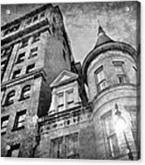 The Stafford Hotel - Grayscale Acrylic Print