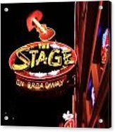 The Stage On Broadway In Nashville Acrylic Print by Dan Sproul