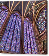 The Stained Glass Of La Sainte-chapelle Acrylic Print