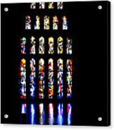 The Stained Glass Windows Of Mary's Church In Nazareth Acrylic Print