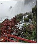 The Stairs To The Cave Of The Winds - Niagara Falls Acrylic Print