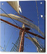 The Star Of India. Mast And Sails Acrylic Print