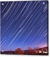 The Star Trail In Ithaca Acrylic Print