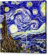 The Starry Night Reimagined Acrylic Print