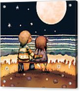 The Stars The Moon And The Tide Acrylic Print by Karin Taylor