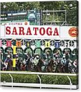 The Start At Saratoga Acrylic Print