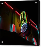 The State In Neon Acrylic Print