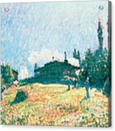 The Station At Sevres Acrylic Print by Alfred Sisley