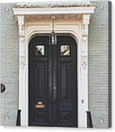 The Stockade Door In Schenectady New York Acrylic Print by Lisa Russo