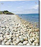 The Stones On Beach Acrylic Print by Boon Mee