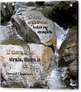 The Strain Of Life... - Yosemite Acrylic Print