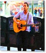 The Street Performer On Market Street - 5d20725 Acrylic Print