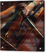 The Stroke Of The Cellist Acrylic Print
