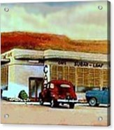 The Sugar Loaf Cafe In St. George Ut In The 40's Acrylic Print