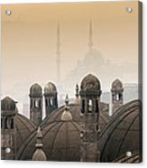 The Suleymaniye Mosque And New Mosque In The Backround Acrylic Print