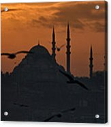 The Suleymaniye Mosque At Sunset Acrylic Print