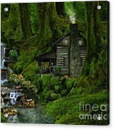 The Summer Cottage Acrylic Print