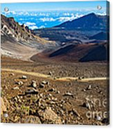 The Summit Of Haleakala Volcano In Maui. Acrylic Print