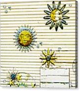 The Sun Moon And Stars Acrylic Print