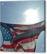 The Sun Of America Acrylic Print by Sheldon Blackwell