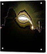 The Sun Over A Jagged Hill Acrylic Print