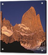 The Sunrise Of Fire Mt Fitzroy Acrylic Print