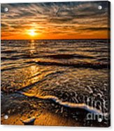 The Sunset Acrylic Print by Adrian Evans