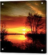 The Sunset Amherstburg On Acrylic Print by Pretchill Smith