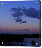 The Sunset Moon In Winter Acrylic Print