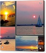 The Sunsets Of Long Island Acrylic Print