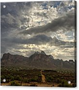 The Superstition Mountains After A Storm  Acrylic Print
