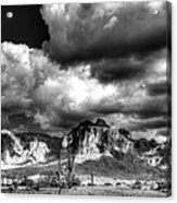 The Supes In Black And White  Acrylic Print
