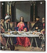 The Supper At Emmaus Acrylic Print