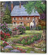 The Sweet Garden Acrylic Print by Chuck Pinson