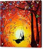 The Swing Original Painting Acrylic Print