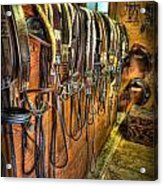 The Tack Room - Equestrian Acrylic Print by Lee Dos Santos