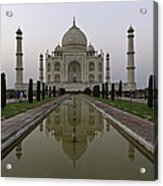 The Taj Mahal In Agra India At Dusk. Acrylic Print