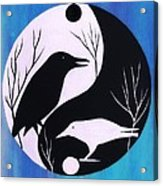 The Tao Of Crow Acrylic Print