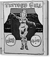 The Tattoed Girl In Black And White Acrylic Print
