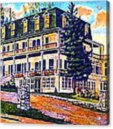 The Tavern Inn In Wilmington N Y In 1910 Acrylic Print